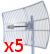 PIECIOPAK:: antena Grid Gold WiFi SAD56027 5GHz 27dBi