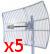 PIECIOPAK:: antena Grid Gold WiFi SAD56027 5GHz 27dBi