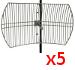 PIECIOPAK:: Antena Grid Gold WiFi SAD56030 5GHz 30dBi