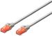 DIGITUS CAT 6e U-UTP patch cable, PVC AWG 26/7, length 0,5 m, color grey