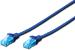 DIGITUS CAT 5e U-UTP patch cable, PVC AWG 26/7, length 0,5 m, color blue