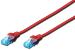DIGITUS CAT 5e U-UTP patch cable, PVC AWG 26/7, length 0,5 m, color red