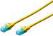 DIGITUS CAT 5e U-UTP patch cable, PVC AWG 26/7, length 0,5 m, color Yellow