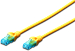 DIGITUS CAT 5e U-UTP patch cable, PVC AWG 26/7, length 3 m, color yellow