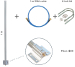 RouterBoard :: (TOF-0809-7V-S1) LoRa Antenna kit, 824-960 MHz, 1m SMA cable