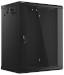"Lanberg :: Rack Cabinet 19"" Wall-Mount 15U/600X450 (flat-pack) V2 Black, Glass door"