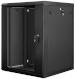 "Lanberg :: Rack Cabinet 19"" Wall-Mount 15U/600X600 (flat-pack) V2 Black, Glass door"
