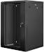 "Lanberg :: Rack Cabinet 19"" Wall-Mount 18U/600X600 (flat-pack) V2 Black Glass door"