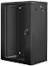 "Lanberg :: Rack Cabinet 19"" Wall-Mount 18U/600X450 (flat-pack) V2 Black, Glass door"