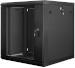 "Lanberg :: Rack Cabinet 19"" Wall-Mount 12U/600X450 (flat-pack) V2 Black, Glass door"