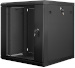 "Lanberg :: Rack Cabinet 19"" Wall-Mount 12U/600X600 (flat-pack) V2 Black, Glass door"