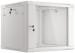 "Lanberg :: Rack Cabinet 19"" Wall-Mount 9U/600X600 (flat-pack) V2 Grey, Glass door"