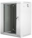"Lanberg :: Rack Cabinet 19"" Wall-Mount 15U/600X450 (flat-pack) V2 Grey, Glass door"