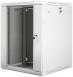 "Lanberg :: Rack Cabinet 19"" Wall-Mount 15U/600X600 (flat-pack) V2 Grey, Glass door"