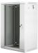 "Lanberg :: Rack Cabinet 19"" Wall-Mount 18U/600X450 (flat-pack) V2 Grey, Glass door"