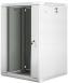 "Lanberg :: Rack Cabinet 19"" Wall-Mount 18U/600X600 (flat-pack) V2 Grey Glass door"