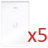 UBIQUITI :: (UAP-AC-IW-5) UniFi AC In Wall 5 pack Access Point 802.11AC, PoE not included